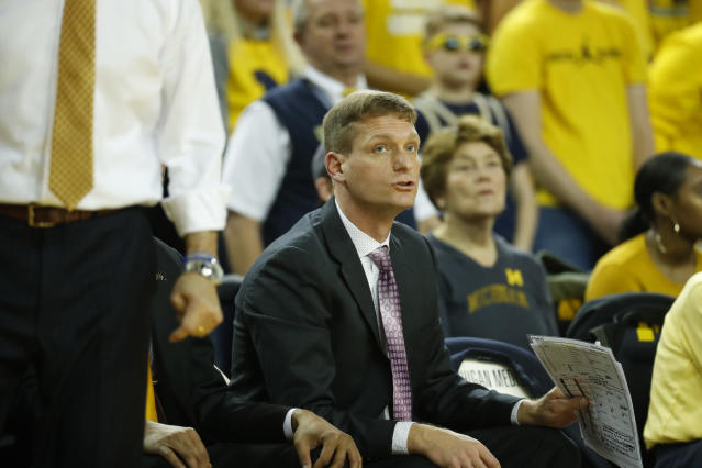 Michigan assistant coach Luke Yaklich transformed the Wolverines into a defensive juggernaut this season. (AP)
