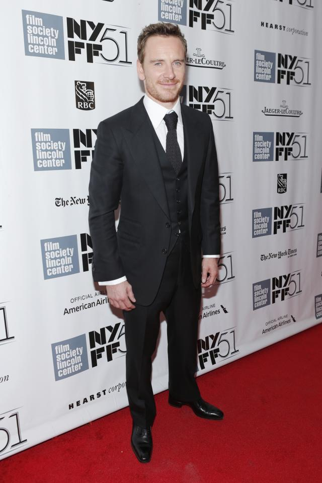 """NEW YORK, NY - OCTOBER 08: Actor Michael Fassbender attends the """"12 Years A Slave"""" premiere during the 51st New York Film Festival at Alice Tully Hall at Lincoln Center on October 8, 2013 in New York City. (Photo by Jemal Countess/Getty Images)"""