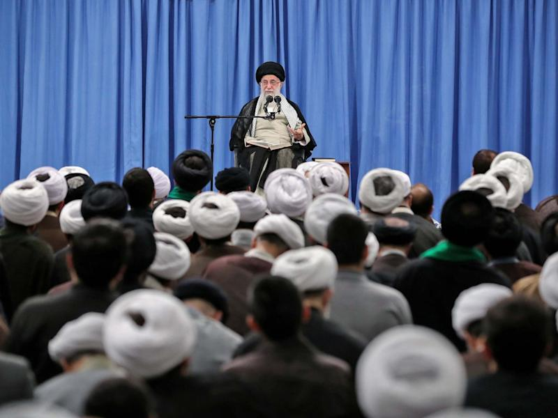 Iran's Supreme Leader Ayatollah Ali Khamenei during a meeting in Tehran on 17 September: AFP/Getty Images