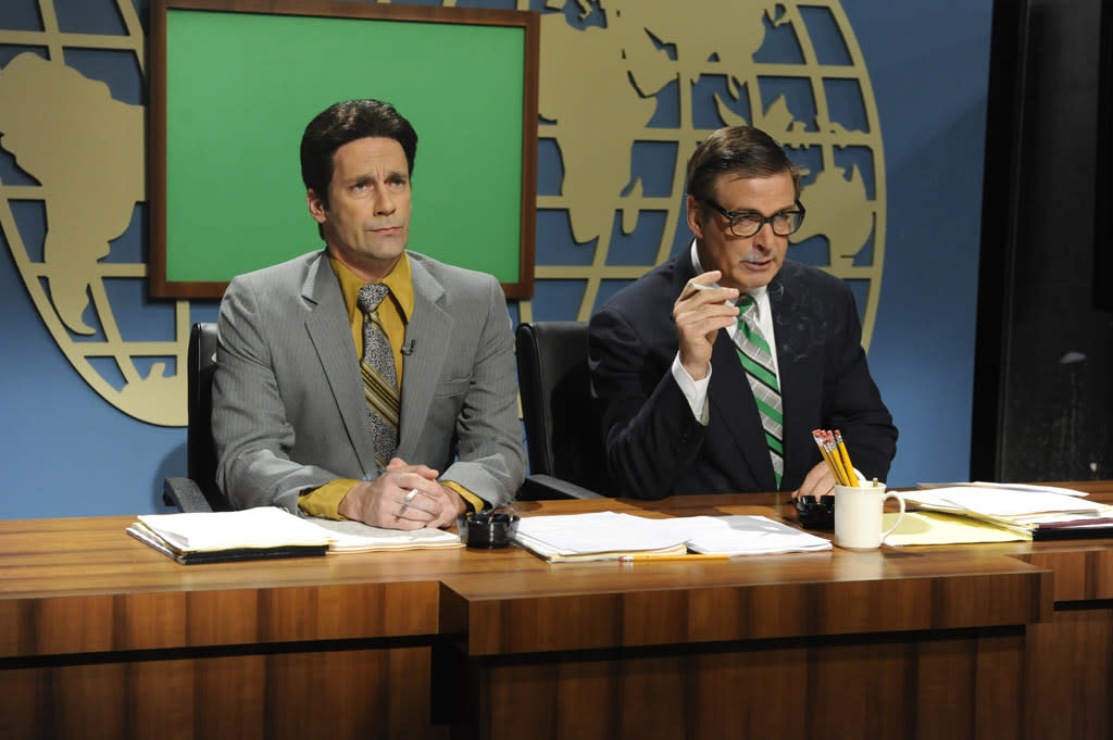 "Jon Hamm and Alec Baldwin in the ""Live from Studio 6H"" episode of ""<a href=""http://tv.yahoo.com/30-rock/show/37064"">30 Rock</a>."""