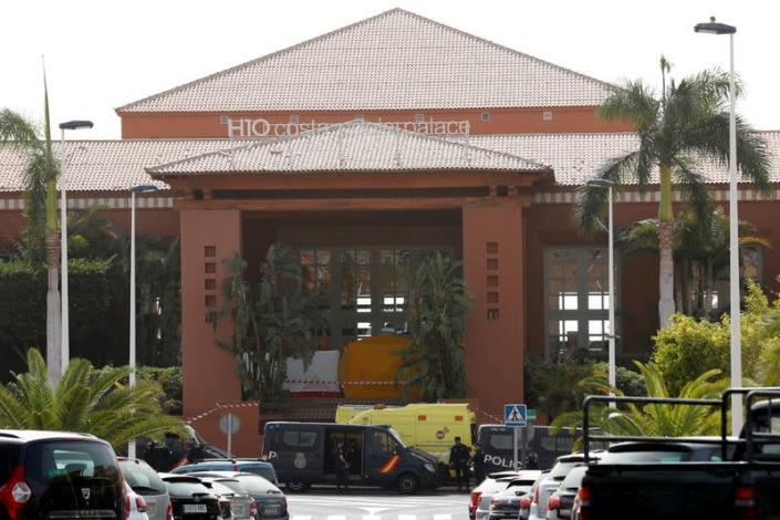 FILE PHOTO: General view of H10 Hotel, which is on lockdown after novel coronavirus has been confirmed in Adeje