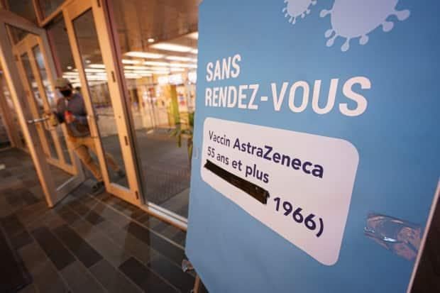 All Quebecers who are 55 and over, with the exception of those in Abitibi-Témiscamingue, are eligible to receive the AstraZeneca vaccine.