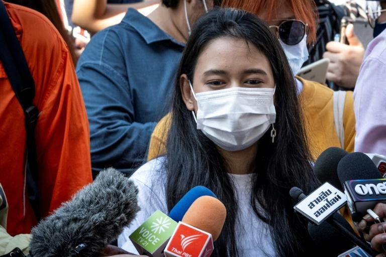 """Student leader Patsaravalee Tanakitvibulpon -- better known as """"Mind"""" -- told AFP she was """"overwhelmed with joy"""" by the backing of Germany's Green Party"""