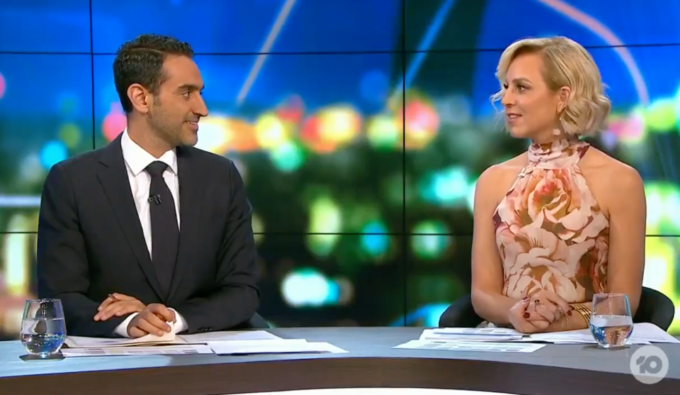 The Project's Waleed Aly and Carrie Bickmore