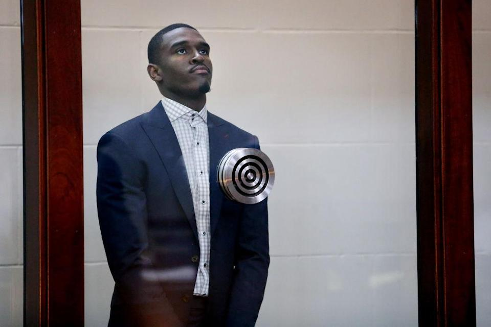Boston Celtics guard Jabari Bird was arraigned on domestic violence charges on Thursday. (Getty Images)