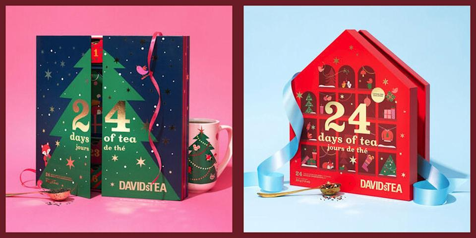 """<p>The holiday season is all about getting cozy, and what better accessory for a crackling fire or blanket than <a href=""""https://www.townandcountrymag.com/leisure/drinks/g26305535/gifts-for-tea-lovers/"""" rel=""""nofollow noopener"""" target=""""_blank"""" data-ylk=""""slk:a warm cup of tea"""" class=""""link rapid-noclick-resp"""">a warm cup of tea</a>? This year, we'll be rounding up the most unique and with festive tea advent calendars that are guaranteed to get you into the holiday mood—here's a look at the latest calendars (including no less than three of DavidsTeas ultra-coveted calendars) as well as a look back at some of our favorites from last year to whet our advent appetite. </p>"""