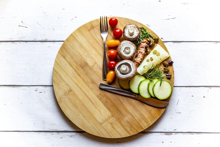 """<p>Carbohydrates take less time to digest than protein and fat. That means you'll feel hungry in less time if you load up on carbs and don't balance your meals with more protein and fat. </p><p>""""If you start your day with just milk and cereal, your blood sugars will spike and then crash,"""" explains Mirkin. """"This will cause you to reach for more carbohydrates to lift you up again.""""</p><p>Mirkin recommends eating balanced meal with protein, fat, and carbs to stay full for hours. That breaks down to 40 percent protein, 30 percent fat, and 30 percent carbohydrate per meal. </p>"""