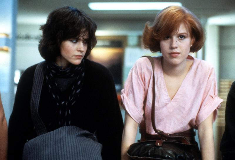 Ally Sheedy and Molly Ringwald in a scene from the film 'The Breakfast Club', 1985. (Photo by Universal Pictures/Getty Images)