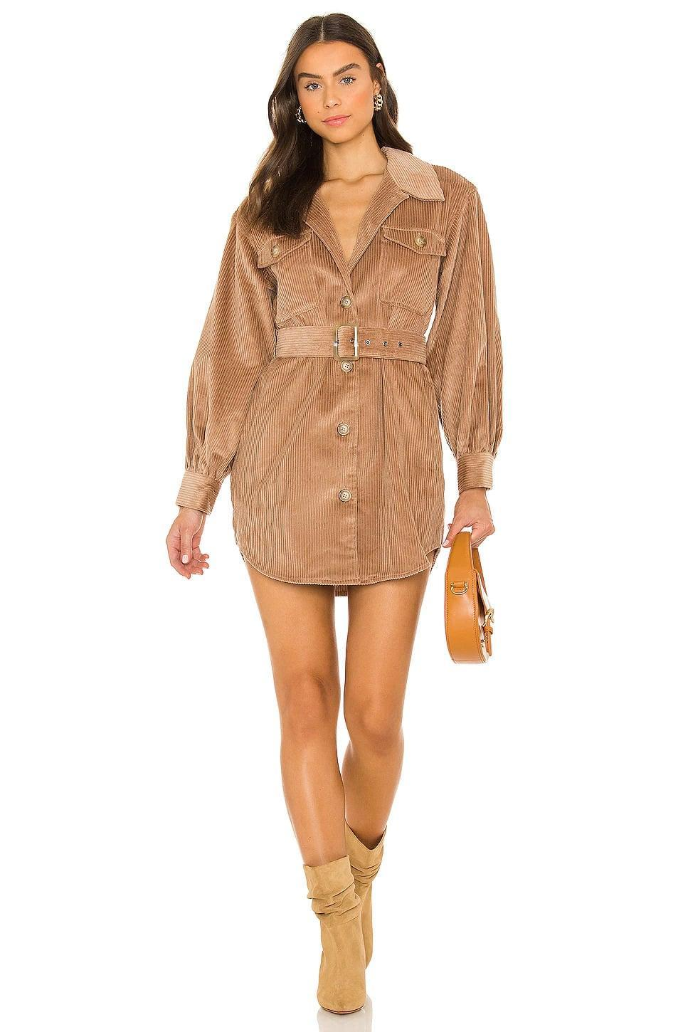 <p>The <span>BB Dakota by Steve Madden Cord Of It All Dress in Light Camel</span> ($129) is such a vibe for the fall. You can wear it as is with knee high boots or layer the dress on top of a white tee and jeans. </p>
