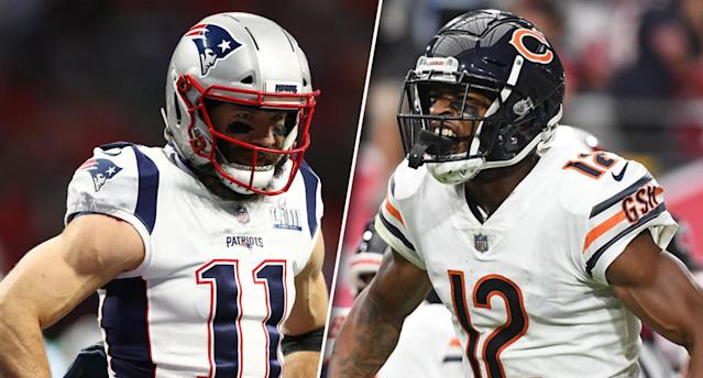 The battle of the veteran receivers. (Photos by Maddie Meyer/Jennifer Stewart/Getty Images)