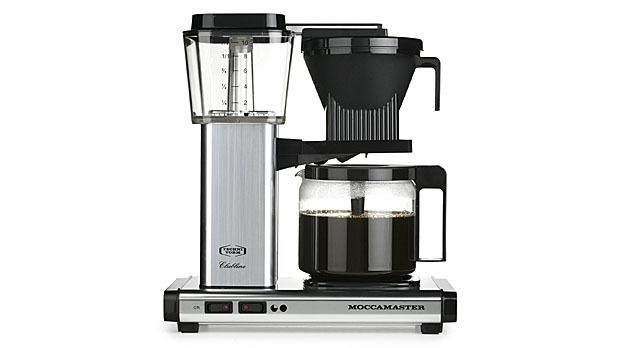 """<p><b>Moccamaster KBG 741</b><br /> While most automatic drip machines don't get water hot enough to extract full flavor, the<a href=""""http://www.moccamaster.com/us/brewers/"""">Moccamaster KBG 741</a>brings water to the optimum off-the-boil temperature (196 degrees to 205 degrees) to extract the most complex tastes. A funnel in the lid delivers the coffee to the bottom of the pot and swirls it upward, so the brew is consistent from first sip to last.<i>[$309;<a href=""""http://www.amazon.com/Moccamaster-10-Cup-Coffee-Brewer-Polished/dp/B0055P70MQ"""">Amazon</a>]</i> <i>(Photo Courtesy of Moccamaster)</i> <a href=""""http://www.mensjournal.com/expert-advice/6-habits-that-are-aging-you-20140210?utm_source=yahoofood&utm_medium=referral&utm_campaign=brewbettercoffee""""><b>Related: <i>6 Habits That Are Aging You</i></b></a><br /><br /><b></b></p>"""