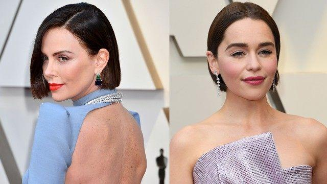 Charlize Theron and Emilia Clarke beauty looks at the Oscars