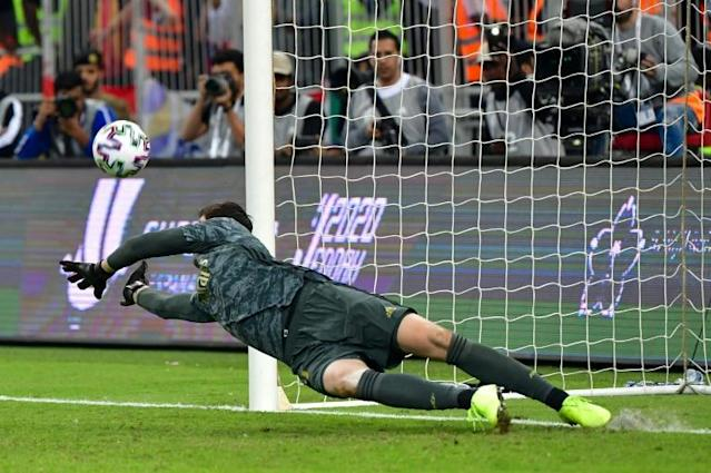 Thibaut Courtois' penalty save capped an impressive performance (AFP Photo/Giuseppe CACACE)