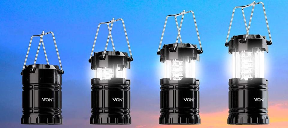 The lantern collapses down to the size of a smartphone. (Photo: Amazon)
