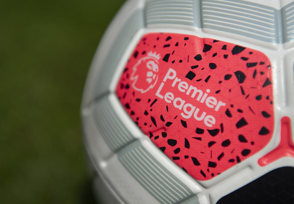 MANCHESTER, ENGLAND - JUNE 15: The official Nike Premier League match ball on June 15, 2020 in Manchester, England.(Photo by Visionhaus)