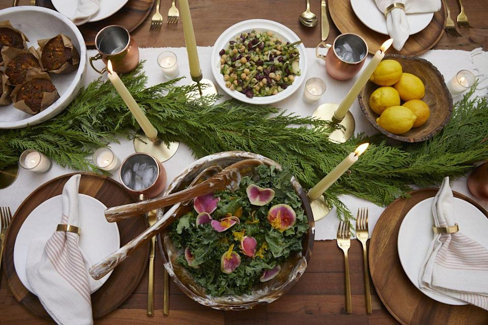 "<p>While packaging and storing leftovers may be the last thing you want to do at the end of the evening, both tastemakers encourage repurposing these fresh, seasonal ingredients.</p><p>""Don't toss leftovers! I love to revive last night's meal with lots of fresh herbs and lettuces the next day and beyond,"" Berrie says.</p><p>Finishing leftovers yourself may be easy with an intimate dinner party, but don't be afraid to share them with your guests if you have more than your household can handle.</p><p>""When it comes to food, there's never waste in my home,"" says Helmstetter. ""I always have a plan for leftovers or will send guests home with something to enjoy the next day."" </p><p>Keeping cute <a href=""https://www.amazon.com/Eco-Friendly-Microwavable-Containers-Packaging-Restaurants/dp/B089H2KZ5T/ref=sr_1_29?dchild=1&keywords=Compostable+Food+Containers&qid=1610384494&sr=8-29"" rel=""nofollow noopener"" target=""_blank"" data-ylk=""slk:compostable takeout boxes"" class=""link rapid-noclick-resp"">compostable takeout boxes</a> in your <a href=""https://www.veranda.com/decorating-ideas/a29529319/guide-to-party-closets/"" rel=""nofollow noopener"" target=""_blank"" data-ylk=""slk:party closet"" class=""link rapid-noclick-resp"">party closet</a> and letting guests take what they want for tomorrow's lunch is a simple way to reduce food waste and ensure you're not stuck eating the same kale salad for the next week!</p>"