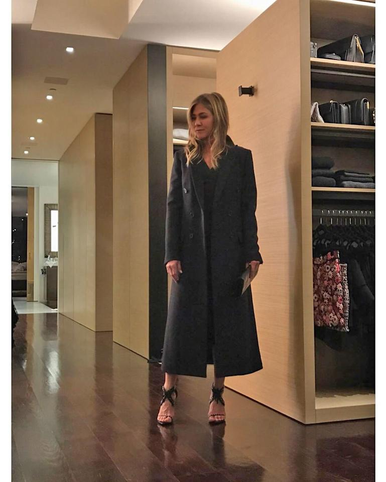 "One (central) perk of everyone's favorite <em>Friend</em> joining Instagram? We'll finally get a peek behind the scenes of the private star's style, which includes <a href=""https://people.com/style/jennifer-aniston-stylist-shares-peek-inside-closet/"">posing sessions for stylists Nina and Clare Hallworth</a> inside this massive, super-organized and totally zen closet experience."