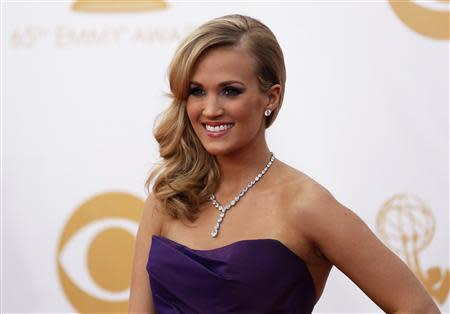 File photo of Underwood arriving at the 65th Primetime Emmy Awards in Los Angeles