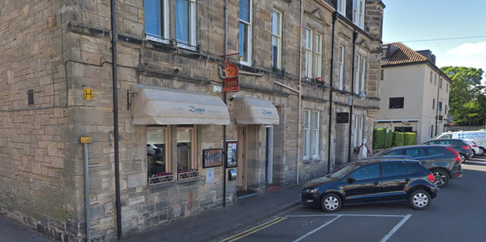 Ziggy's in St Andrews, where a pair of diners apparently tried to leave without paying - forgetting they'd handed over their details for NHS Test & Trace. (Google Maps)