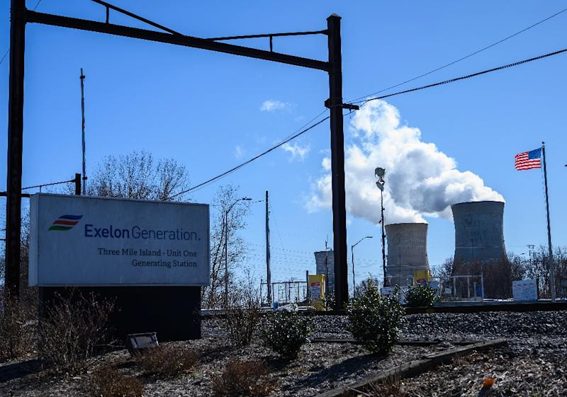 The Three Mile Island nuclear plant is scheduled to close in September unless Pennsylvania lawmakers come up with a plan to save it (AFP Photo/ANDREW CABALLERO-REYNOLDS)