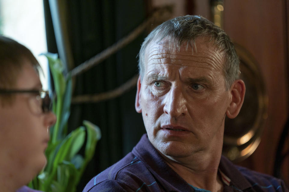 The A Word: Ralph (LEON HARROP), Maurice Scott (CHRISTOPHER ECCLESTON) - (Fifty Fathoms - Photographer: James Stack)