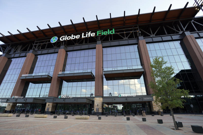 Globe Life Field, home of the Texas Rangers, would host the 2020 World Series in MLB's new proposed postseason bubble plan. (Photo by Cooper Neill/MLB Photos via Getty Images)