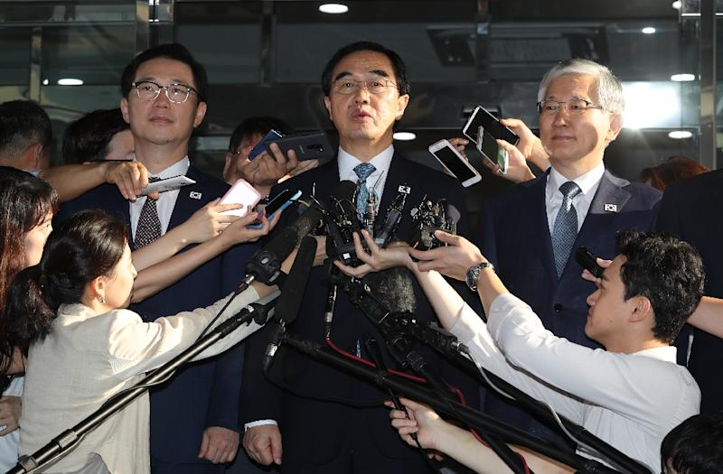 South Korean Unification Minister Cho Myoung-gyon is leading the South's delegation (AFP Photo/-)