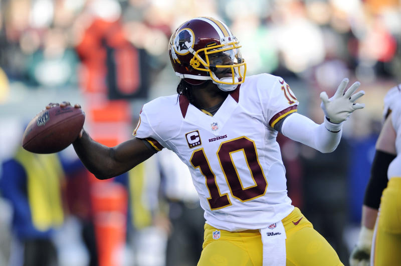 Washington Redskins quarterback Robert Griffin III had a breakout season in 2012, but wasn't able to reach that height again. (AP Photo/Michael Perez, File)