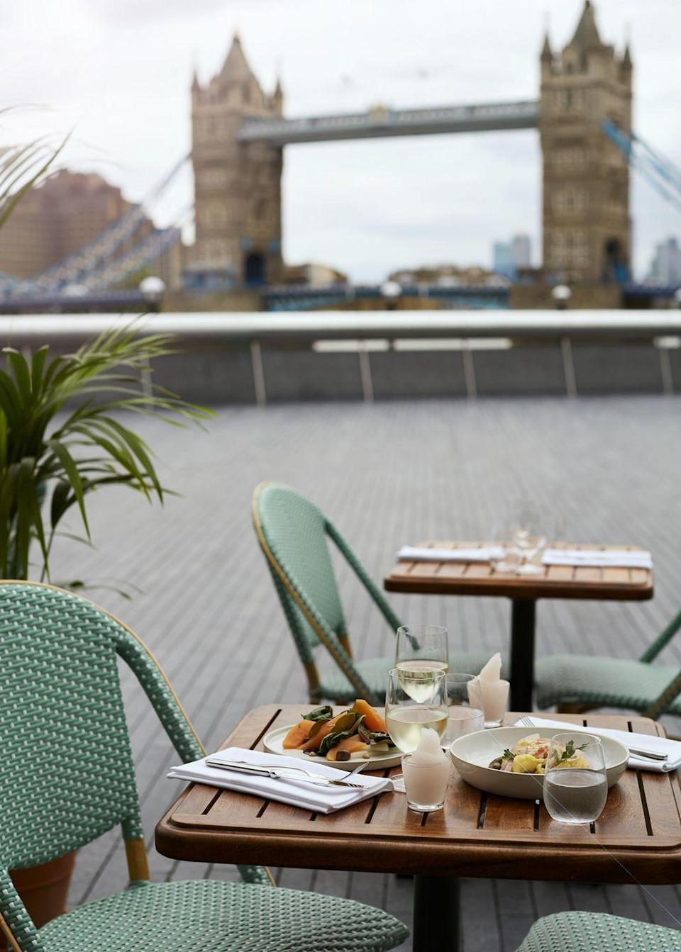 """<p>'Tavolino' means small table in Italian but size doesn't really matter at this new opening in London Bridge – the important thing is the amazing location and the al fresco tables which look out onto the river. </p><p>Not forgetting the pizzas of course, which are made Romagna-style on a crispy sourdough base. Expect finely sourced toppings (the head chef Louis Korovilas who came over from Bancone has put a lot of time into sourcing the finest produce direct from Italy) of Puglian burrata, 'nduja from Spilinga, black Taggiasca olives and Gorgonzola Riserva. </p><p>You'll want to go back to try the entire menu.</p><p>Address: 2 More London Riverside, SE1 2DB.</p><p>Click <a href=""""https://www.tavolino.co.uk/"""" rel=""""nofollow noopener"""" target=""""_blank"""" data-ylk=""""slk:here"""" class=""""link rapid-noclick-resp"""">here</a> for more information.</p>"""