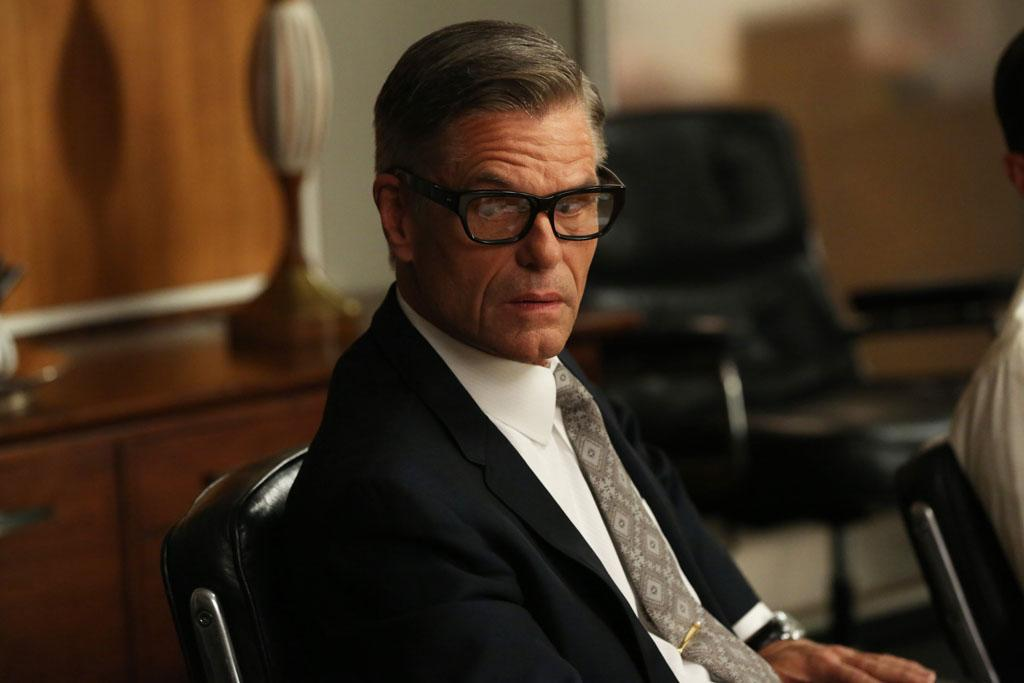"Jim Cutler (Harry Hamlin) in the ""Mad Men"" episode, ""A Tale of Two Cities."""