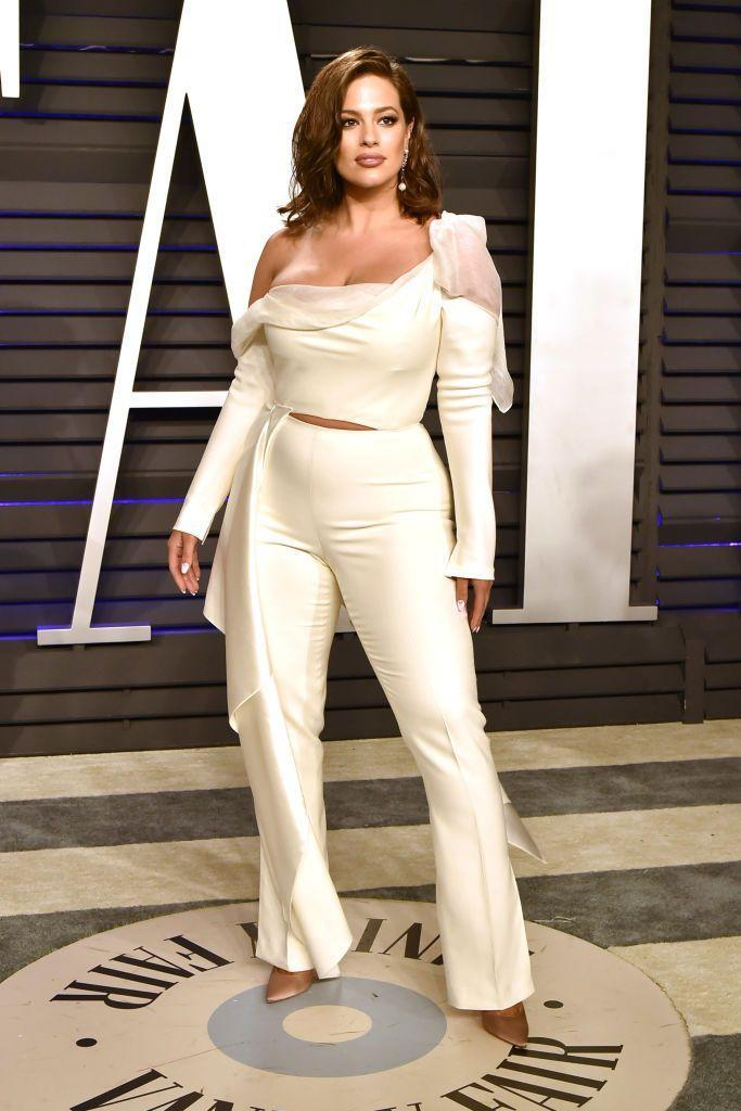 <p>Graham changed into a cream two-piece for the afterparty. </p>