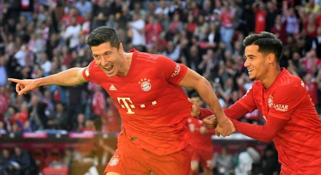 Robert Lewandowski and Philippe Coutinho both scored in Bayern's rout of Cologne (AFP Photo/Christof STACHE)