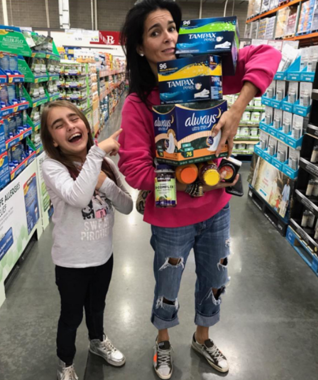 "<p>""Life with girls… & it's Monday,"" the actress and mom of three daughters captioned this hilarious photo of herself stocking up on feminine hygiene products at the pharmacy. ""Hope your week is full of love & laughter,"" she added. (Photo: <a href=""https://www.instagram.com/p/BcSqJv6Faws/?hl=en&taken-by=angieharmon"" rel=""nofollow noopener"" target=""_blank"" data-ylk=""slk:Angie Harmon via Instagram"" class=""link rapid-noclick-resp"">Angie Harmon via Instagram</a>) </p>"