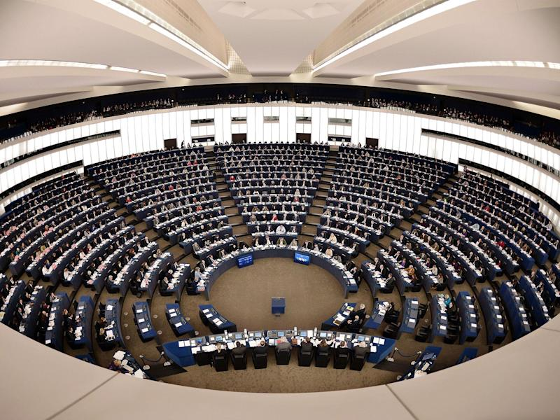 Members of the European Parliament take part in a voting session on November 27, 2014, in the European Parliament in Strasbourg, eastern France: FREDERICK FLORIN/AFP/Getty Images