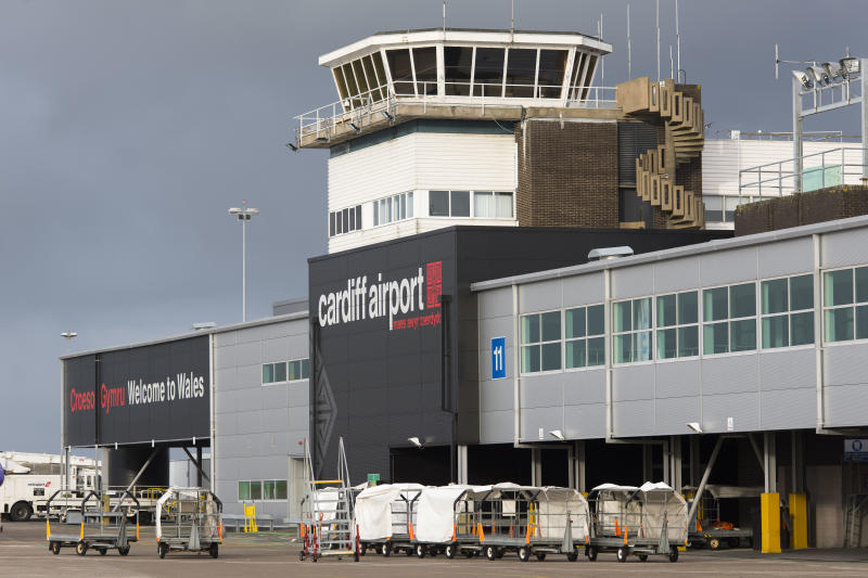A general view of Cardiff Airport.