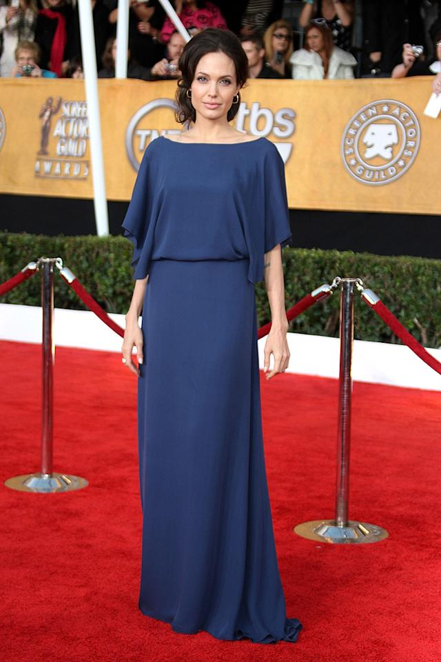"""BEST: <a href=""""http://movies.yahoo.com/movie/contributor/1800019275"""">Angelina Jolie</a> at the 15th Annual Screen Actors Guild Awards in Los Angeles - 01/25/2009"""