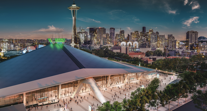 "<div class=""caption""> A rendering shows how the redesign of the new eco-friendly stadium could appear when completed. </div> <cite class=""credit"">Photo courtesy of Amazon</cite>"