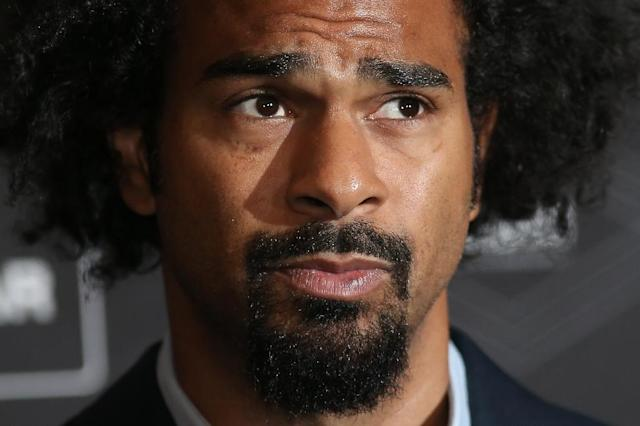 British former world heavyweight boxing champion David Haye, pictured on January 20, 2017, reacted angrily when he was greeted with foul-mouthed abuse from a partisan crowd in Liverpool (AFP Photo/Daniel LEAL-OLIVAS)