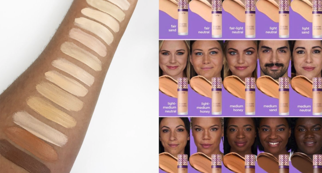 Tarte's new Shape Tape Foundation range is getting a lot of criticism from beauty lovers because of its lack of color diversity. (Photo: Twitter/glowkit)