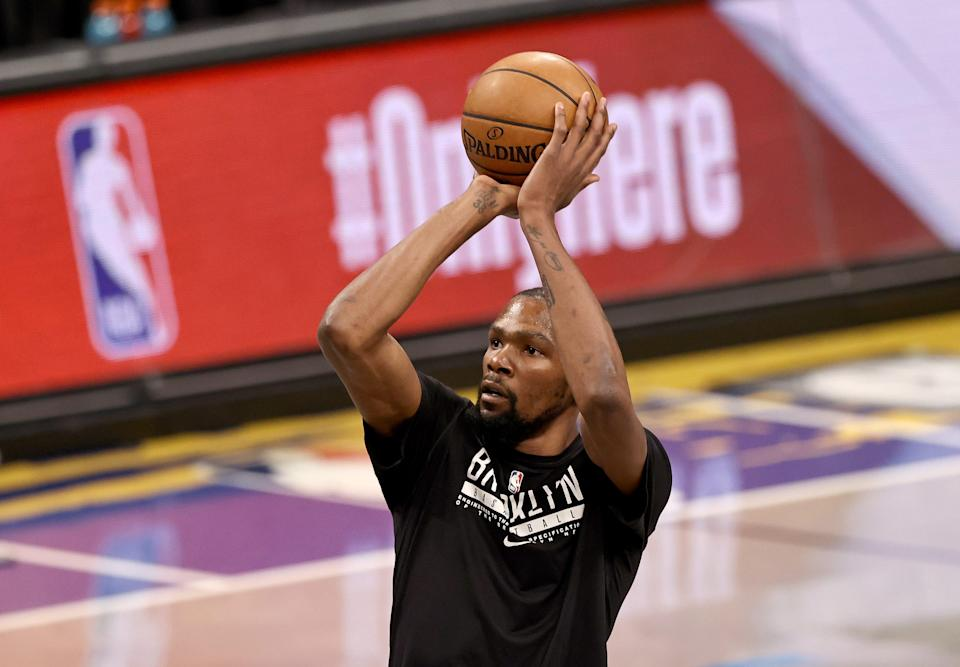 Kevin Durant says he's more concerned with continuing to improve than being considered the league's premier player.