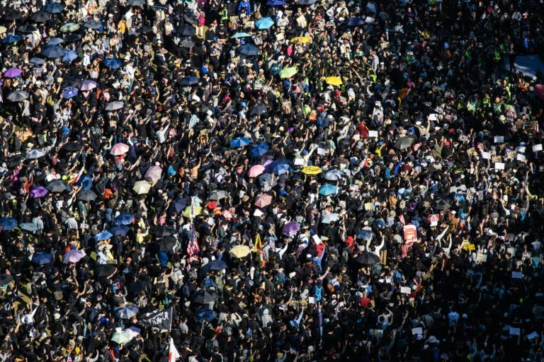 Hong Kong saw its largest mass rally in months on Sunday, with organisers estimating some 800,000 people turned out