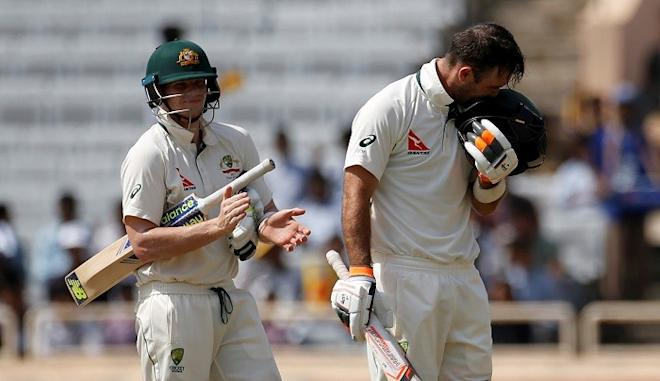 Glenn Maxwell, Steve Smith, Australia, India, third Test day two