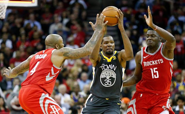 Kevin Durant is well aware of the Rockets' ability. (Getty)