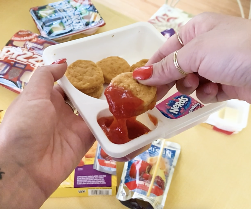 <p>These would be far better microwaved, but that's beside the point. Putting chicken nuggets in the same ranking as cheese and crackers is really unfair TBH, because chicken nuggets will always win. However, there is no assembly or creativity involved when you're eating this Lunchable which is a crucial part of the experience. </p>