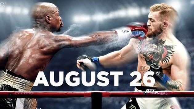Mayweather will take on McGregor in August. Pic: Yahoo Sports