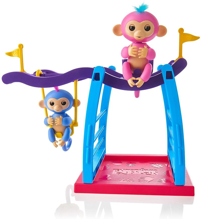 WowWee Playset Bar/Swing Playground with 2 Fingerlings Baby Monkey Toys. (Photo: Amazon)