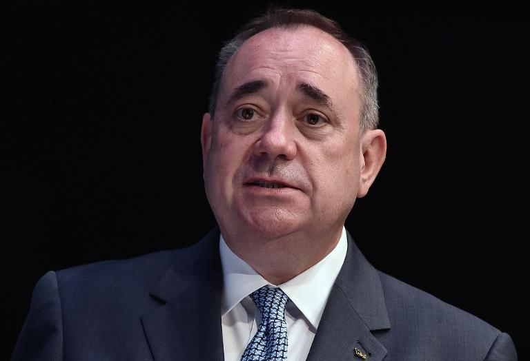 Scotland''s First Minister Alex Salmond, seen at the SECC in Glasgow on July 22, 2014 (AFP Photo/Andrej Isakovic)