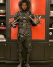 <p>As Edward Scissorhands.</p>