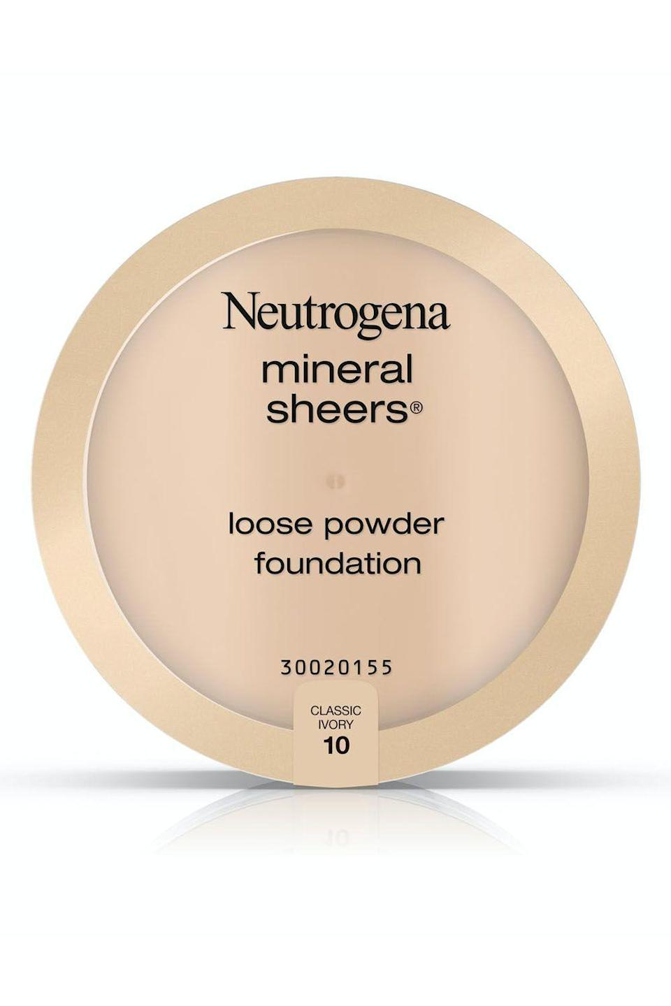 """<p><strong>Neutrogena</strong></p><p>target.com</p><p><strong>$9.39</strong></p><p><a href=""""https://www.target.com/p/-/A-15658595"""" rel=""""nofollow noopener"""" target=""""_blank"""" data-ylk=""""slk:Shop Now"""" class=""""link rapid-noclick-resp"""">Shop Now</a></p><p>Yes, even your sensitive bb skin can handle a setting powder—you just have to find the right one. Enter, this drugstore setting powder: It's <strong>free of a lot of the ingredients that can stress out your skin </strong>(including fragrance and sulfates), and it also protects it from damage (thanks to antioxidants like <a href=""""https://www.cosmopolitan.com/style-beauty/beauty/a27609307/vitamin-e-for-skin-benefits-products/"""" rel=""""nofollow noopener"""" target=""""_blank"""" data-ylk=""""slk:vitamins E"""" class=""""link rapid-noclick-resp"""">vitamins E</a> and C). </p>"""