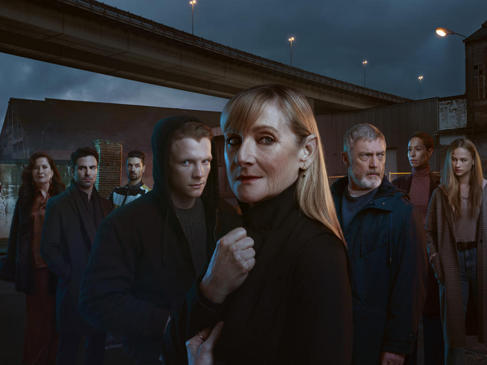 L-R - Dubravka, Davor, Stefan,Christian, Hannah, Billy, Tina, Bianca - the main players of Before We Die (Channel 4)